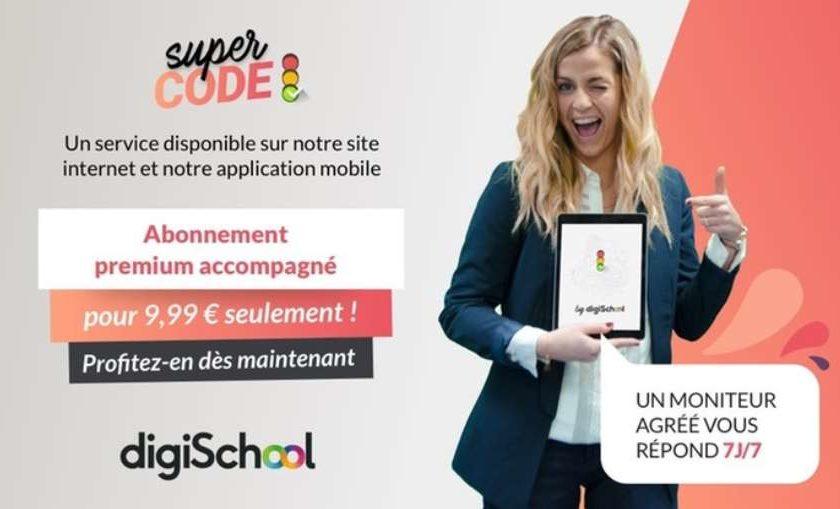 abonnement Premium d'entrainement au code de la route avec DigiSchool