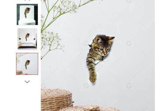 moins de 0,60€ l'autocollant chat