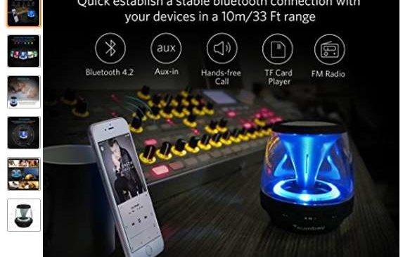 13,99€ l'enceinte Bluetooth – lampe – radio FM