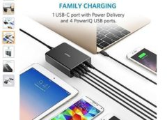 Flash : 22,99€ chargeur Anker PowerPort+ 1 port USB C Power Delivery +  4 ports USB
