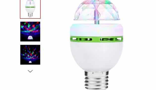 2,54€ ampoule effets lumineux rotative