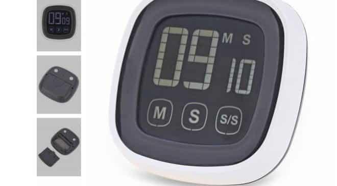 3,42€ le minuteur alarme tactile de cuisine port inclus
