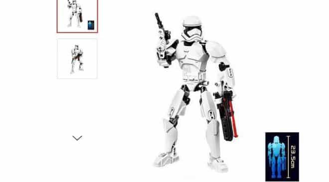3,82€ la figurine Stormtrooper 23,5 cm