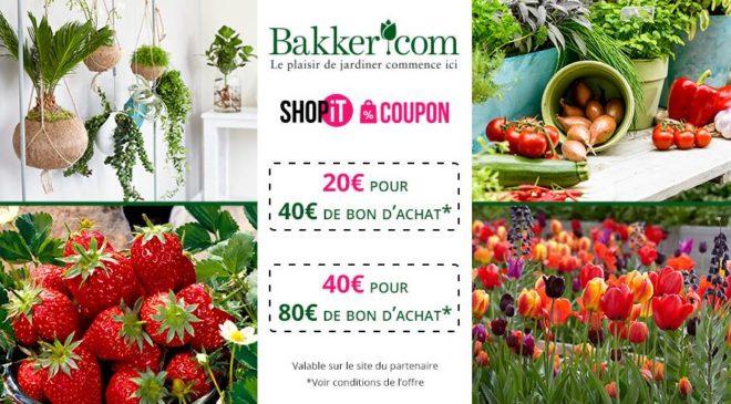 Achats moins chers sur Bakker avec un bon d'achat moitié prix