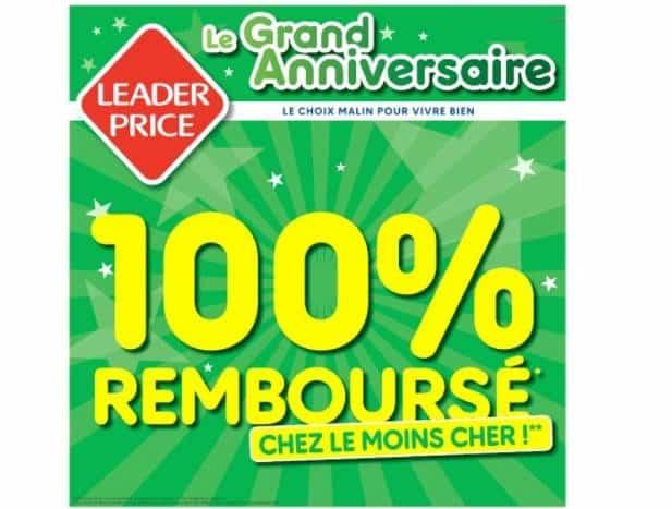 Anniversaire Leader Price : plus de 30 articles 100% remboursés