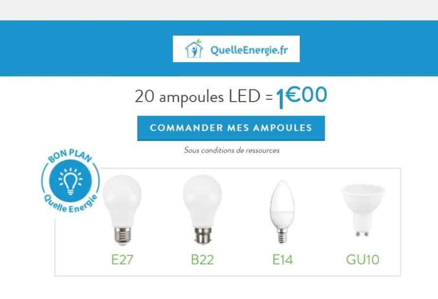 commandez 20 ampoules led pour 1 sur quelle energie. Black Bedroom Furniture Sets. Home Design Ideas