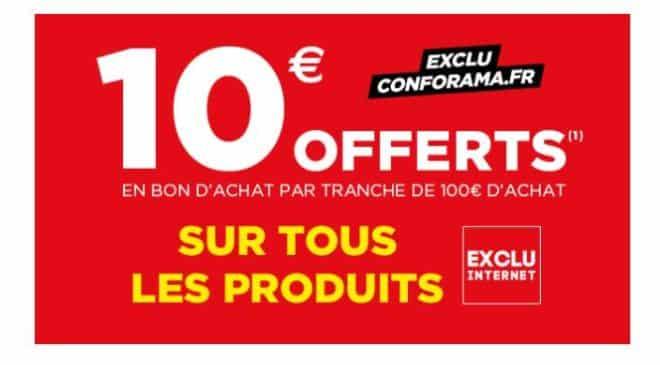 Conforama : 100€ d'achats = 10€ offerts