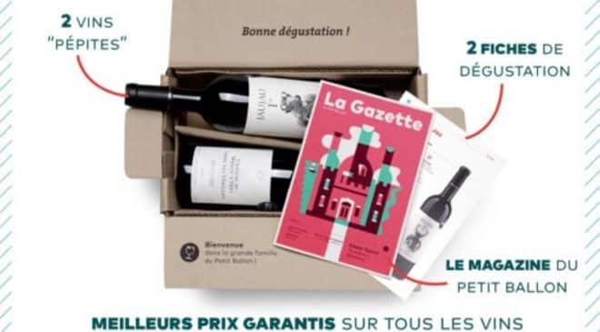 La Box de vins Le Petit Ballon moitié prix