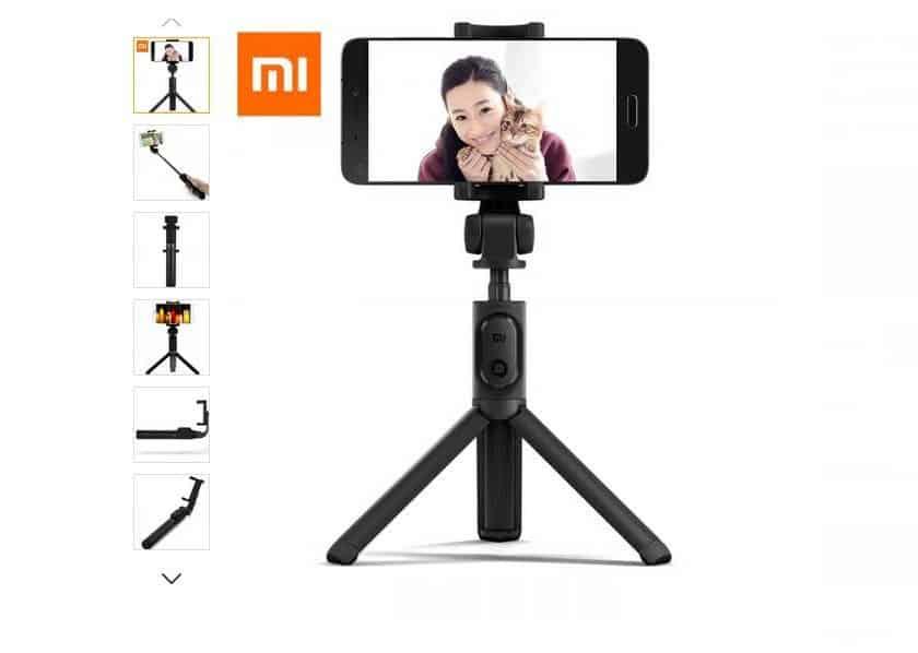 Moins de 14€ le trepied stick Selfie Bluetooth Xiaomi