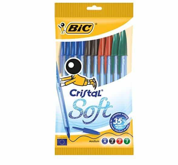 Pochette de 10 stylos BIC Cristal