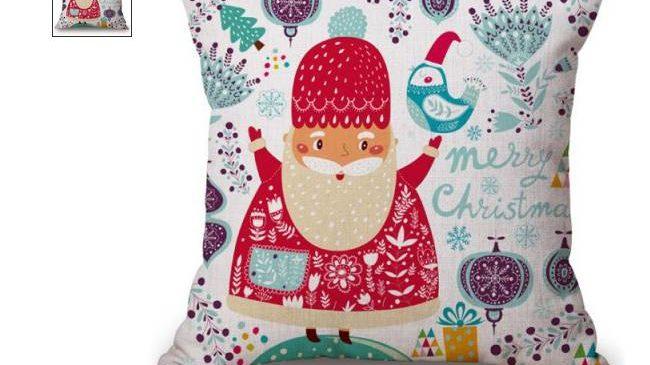 Taie de coussin Merry Christmas Père Noël à seulement 1,26€