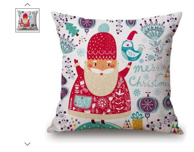 Pas cher taie de coussin merry christmas p re no l 1 26 port inclus - Pere noel gonflable pas cher ...