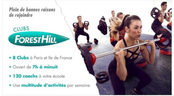 Vente privée abonnements clubs Forest Hill Paris