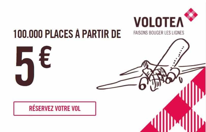 billet d'avion à partir de 5€ sur Volotea