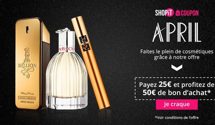 bon d'achat parfumeries April