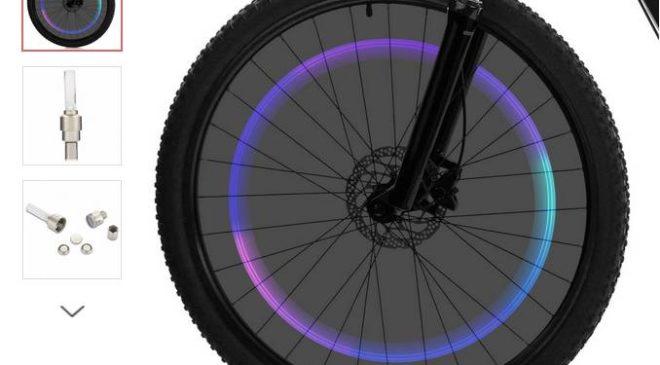 bouchon-lampe de roue de vélo à seulement 0,09€