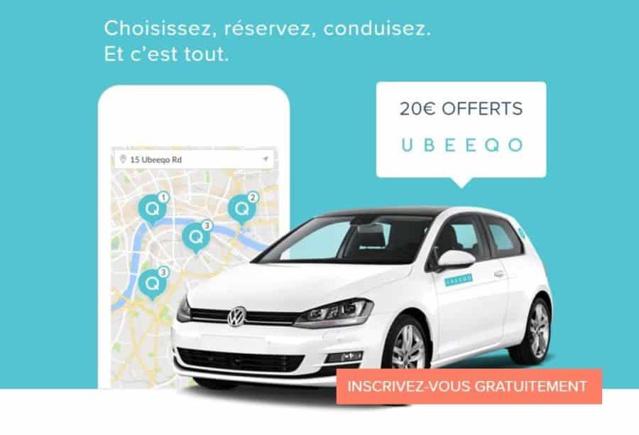 code promo Ubeeqo voiture autopartage Paris