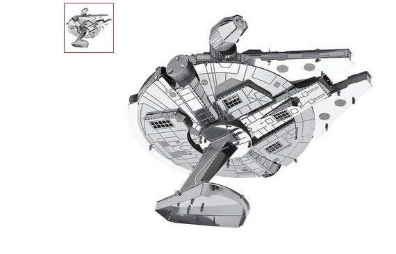 vaisseau Millennium Falcon de Starwars à construire en métal