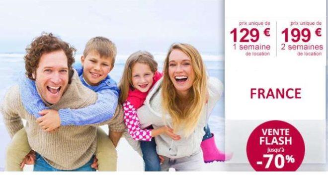 Vente flash : 1 semaine en location 129€ / 2 semaines 199€ Leclerc Voyages