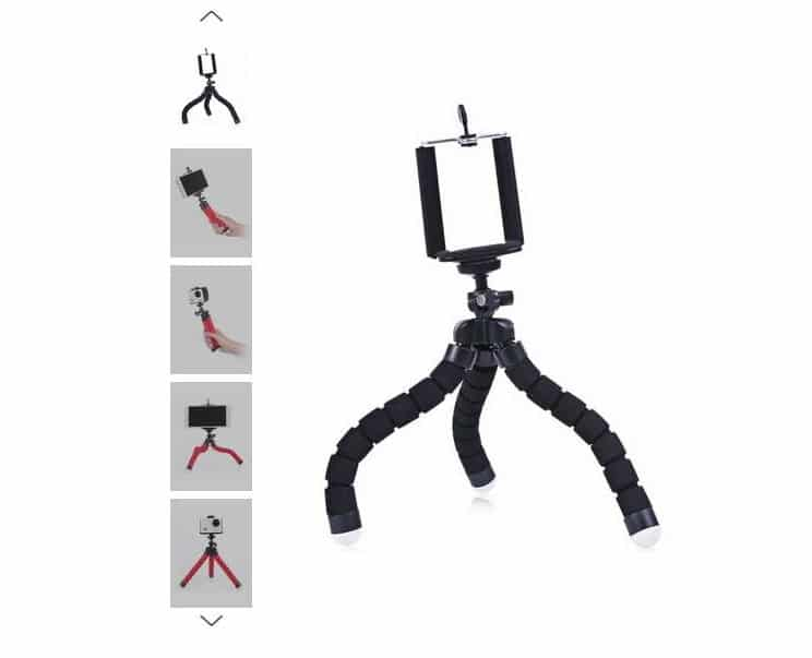 1,25€ le trépied – stick pour appareil photo ou smartphone