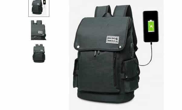 14,40€ le sac à dos avec port USB de chargement