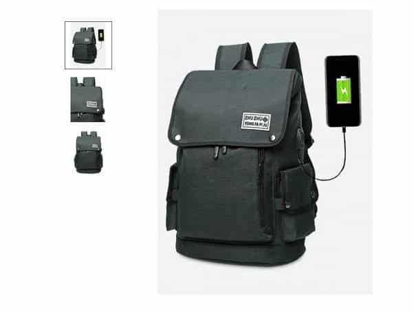seulement 14 40 le sac dos avec port usb de chargement. Black Bedroom Furniture Sets. Home Design Ideas