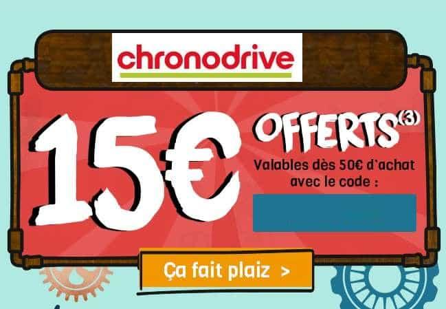 15 euros offerts sur Chronodrive