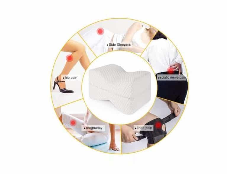 16 99 le coussin orthop dique pour genoux soulage mal de dos sciatique. Black Bedroom Furniture Sets. Home Design Ideas
