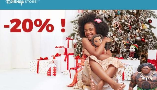 20% de réduction sur le site Disney Store