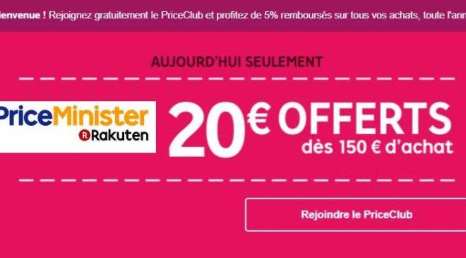 20 de r duction sur priceminister d s 150 aujourd hui uniquement - Code reduction vente unique com ...