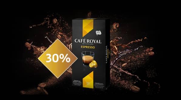 -30% sur les capsules Espresso Café Royal compatibles Nespresso