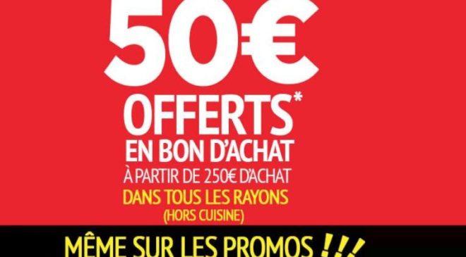 50€ offerts en bon d'achat dès 250€ d'achats sur Conforama