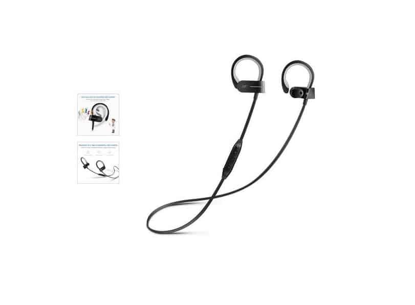 7€ les écouteurs sport Bluetooth 4.1 port inclus