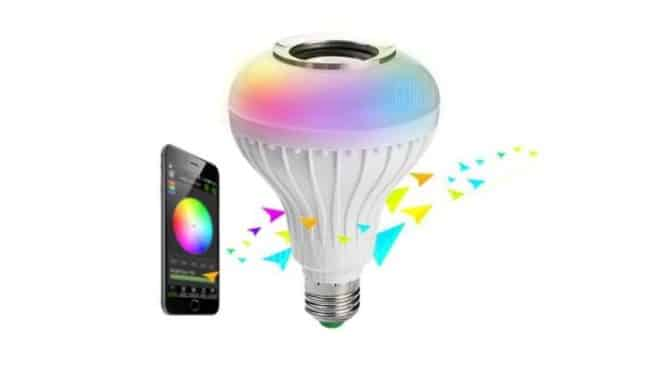 9,35€ ampoule connectée enceinte – multicolore RGB Brelong
