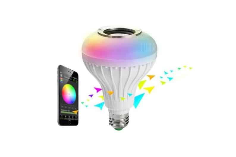 9,35€ ampoule connectée enceinte – multicolore RGB Brelong