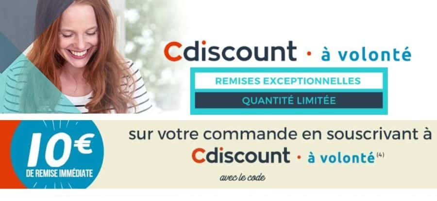 abonnement 1 an cdiscount volont qui revient 9 livraison gratuite. Black Bedroom Furniture Sets. Home Design Ideas