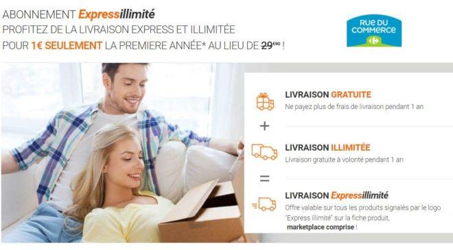 Abonnement Expressillimité Rue Du Commerce à 1€