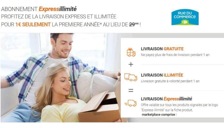 Abonnement expressillimit rue du commerce 1 l ann e - Frais de port gratuit rue du commerce ...