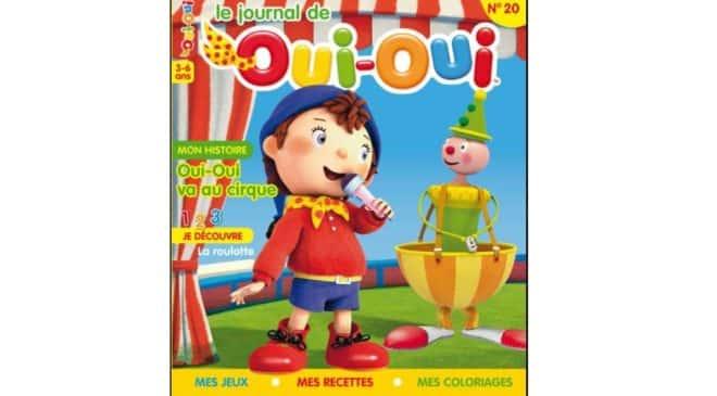 Abonnement Le Journal de Oui-Oui pas cher (magazine 3 à 6 ans) : 24€ l'année au lieu de 39€