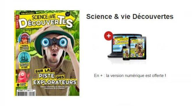 Abonnement Science & vie Decouvertes pas cher