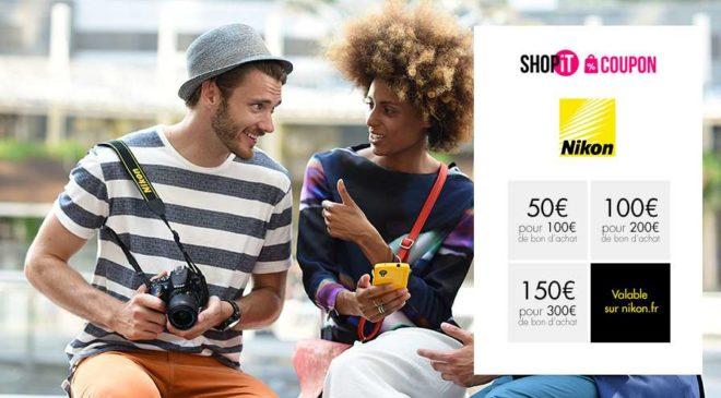 Bon d'achat Nikon moitié prix