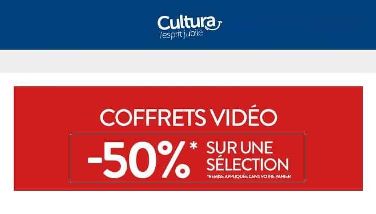 Bon plan coffrets vidéo moitié prix sur Cultura