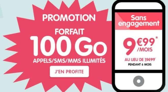 Forfait NRJ Mobile 100Go pour seulement 9,99€ (pendant 6 mois)