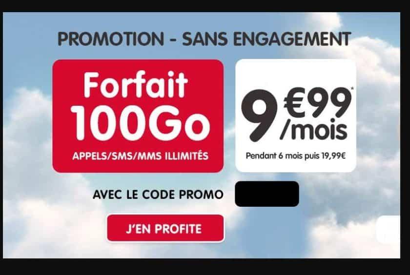 Forfait NRJ Mobile 100Go pour seulement 9,99€