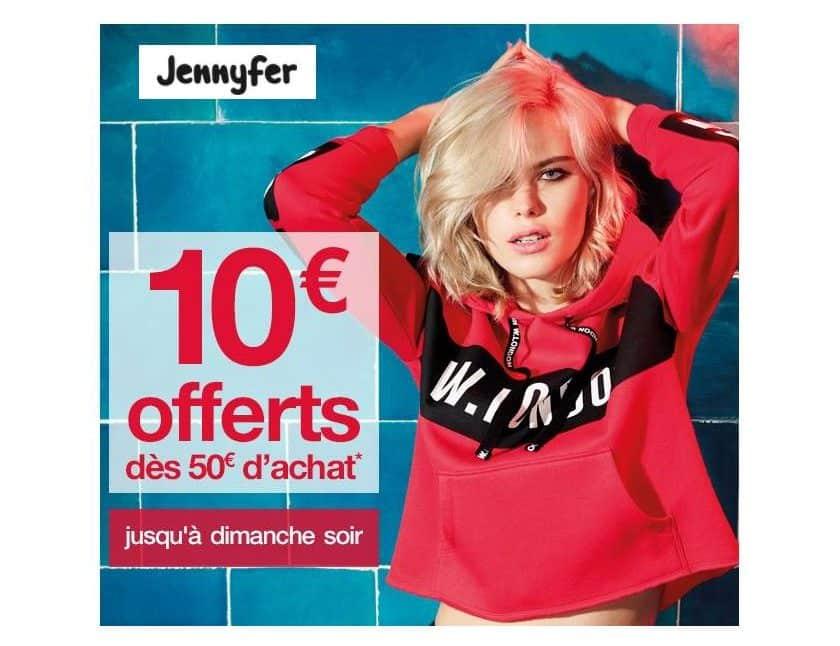 Jennyfer 50€ d'achats = 10€ de remises immédiates