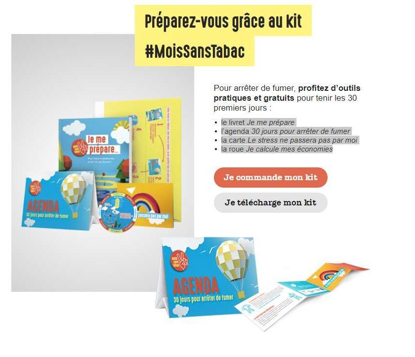 Kit #MoisSansTabac gratuit
