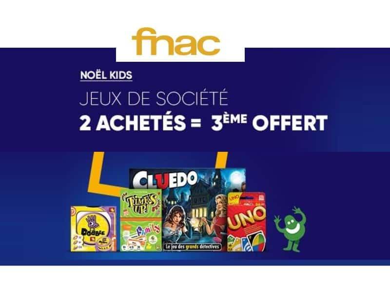Noël Kids La FNAC le 3ème jeux de société gratuit