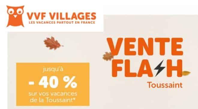 Vente Flash VVF Villages remise sejours pour la Toussaint