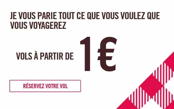 Vols avec Volotea à partir de 1€