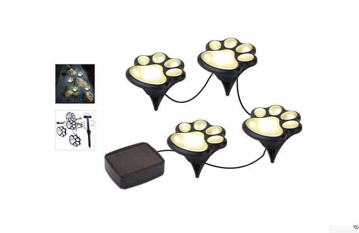 8 60 les lampes solaires d ext rieur trace de pattes livraison gratuite. Black Bedroom Furniture Sets. Home Design Ideas